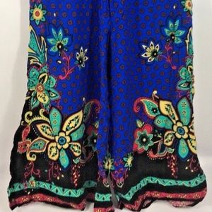 Colorful Boho Chic Bell Bottom Flare Lounge Pants